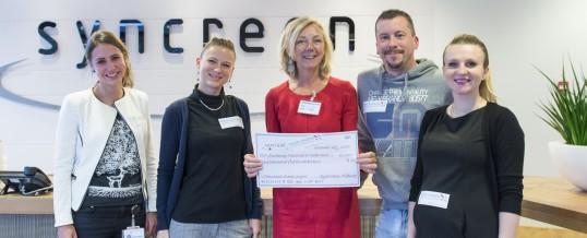 Syncreon doneert 1500 euro!