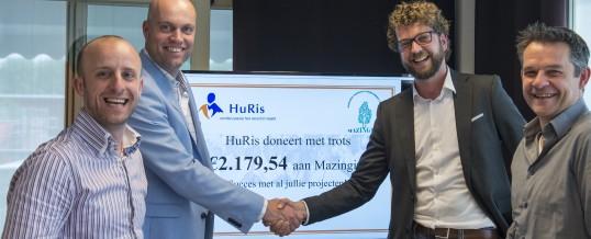 HuRis doneert 2179,54 euro!!